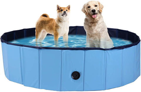 Foldable Dog Pet Swimming Pool Slip-Resistant PVC Kiddie Pool Collapsible Bathing Tub for Dogs and Cats