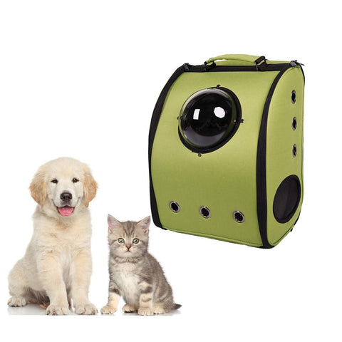 Bosonshop Pet Kitten Puppy Travel Carrier Backpack Space Capsule Bubble Design Breathable