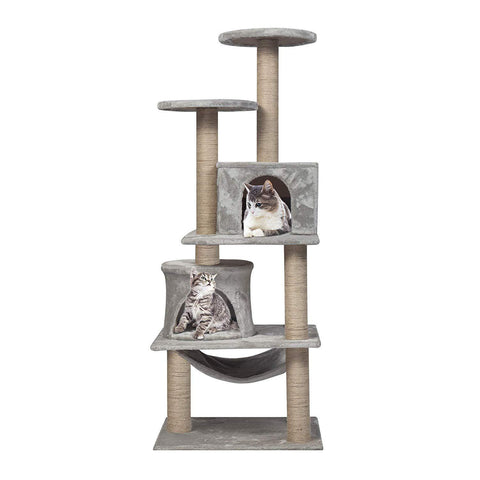 "49.2"" Mordern Cat Tree Tower - Grey"