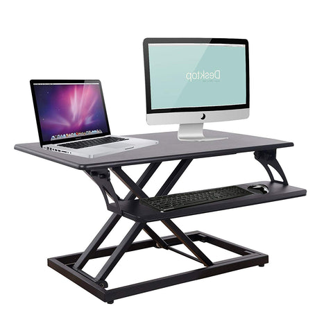 Bosonshop Standing Desk Height Adjustable Desk Riser Ergonomic 1-Click Tabletop Workstation for Work