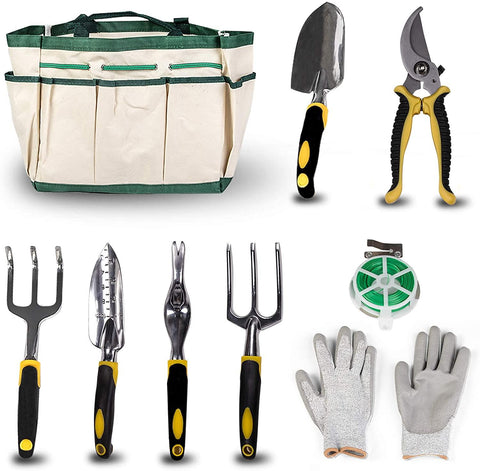 Garden Tool Set 9 Piece Manual Gardening Gifts Kit