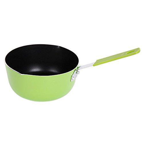 Bosonshop Mini Aluminum Nonstick Butte Warmer Milk Cookware Pot Silicone Handle