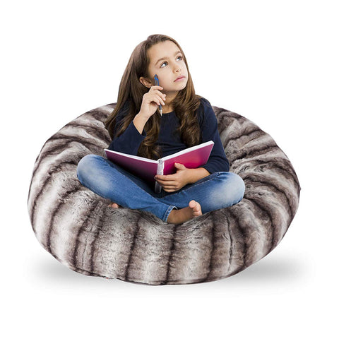 Bosonshop Comfy Bean Bag Chair Sofa Plush Furry Sponge Filling for Adults and Kids 3 Ft