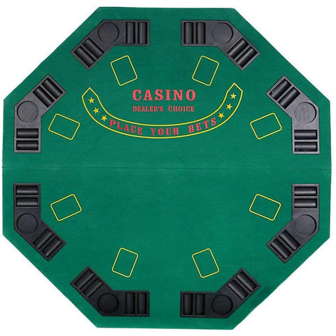 Bosonshop Poker Table Top for 8 Players Poker Blackjack Game Green