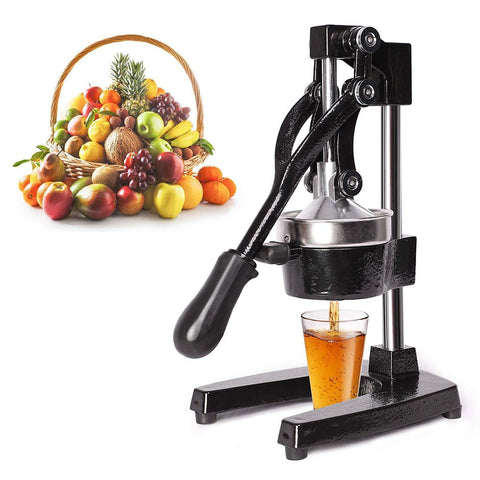 Citrus Pomegranate Juicer Labor-saving Manual Fruit Juicer Press Fruit Squeezer with Stable Non-slip Base, Black