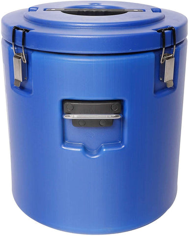 30L Large Food Warmers Bucket Double Stainless with Thick Coat, Tight sealing(Blue)
