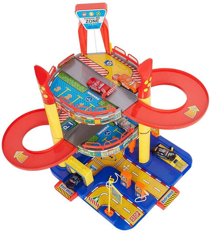Bosonshop Parking Garage Playset for Toddler Car Garage for Boys