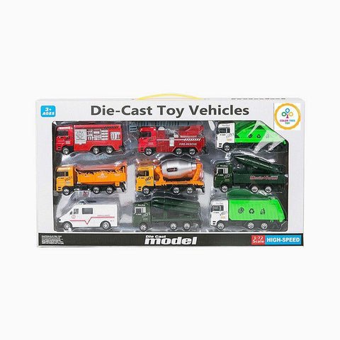 Bosonshop Diecast Cars Playset Mini Toy Pretend Play Mini Race Car Toy