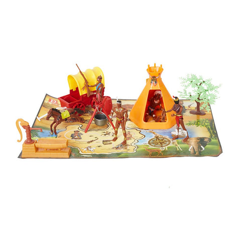 Bosonshop Toy Soldiers Native American Action Figurines Playset