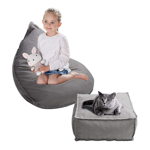 Bosonshop 3 Feet Kids Bean Bag Chair Sofa Seat with Foot Pad for Children