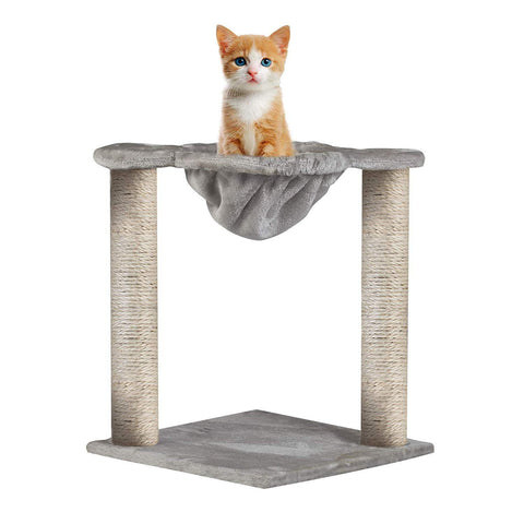 Large Cat Tree Cat Scratching Cat Climber with Condo Cat Tower Furniture and Hammock,Sisal-Covered