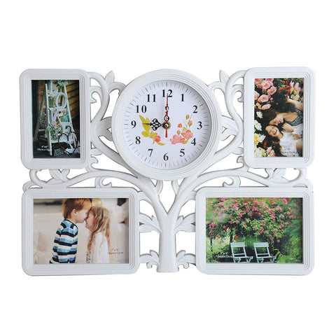 Bosonshop Collage Wall Hanging Photo Frame Tree Type 4 Openings Picture Frame for Home Gallery Decorative