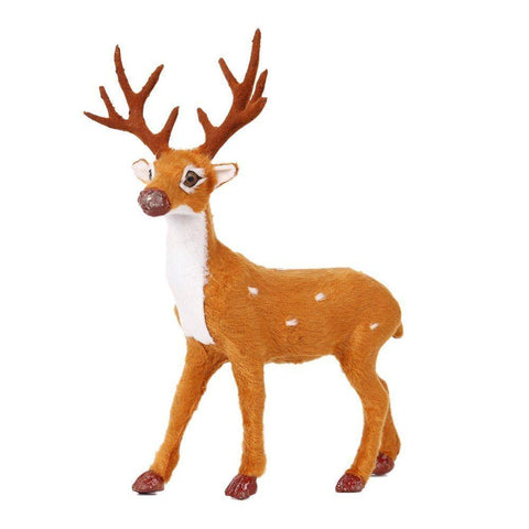 Bosonshop Craft Christmas Decoration Ornaments Simulation Christmas Reindeer for Home Festival Gift