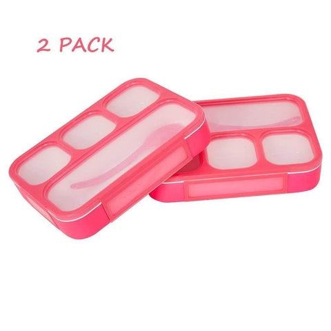 Bosonshop Kids Children Bento Lunch Box Eco-Friendly BPA Free Leakproof Container, 2PCS