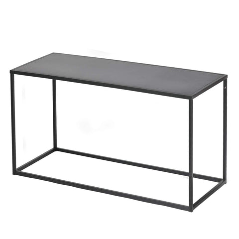 Simple Coffee Table with Anti-Scratch Design Premium Rust Resistant Industrial Cocktail Table for Living Room Black