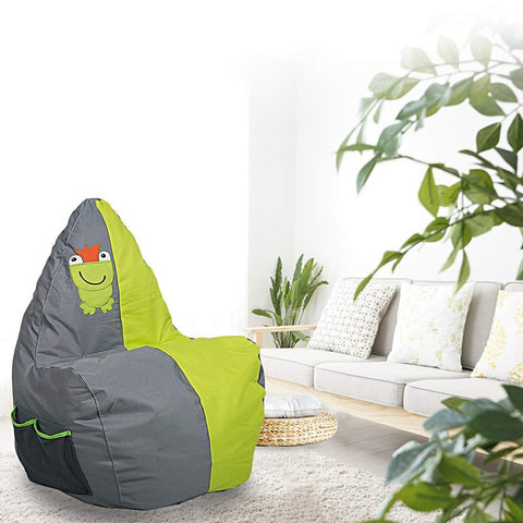 Bosonshop Mini Lounger Sofa, Bean Bag Chair Self-Rebound Green (Frog Pattern)
