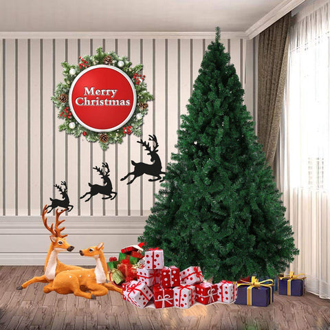 Bosonshop 8' Premium Spruce Artificial Christmas Tree w/Metal Stand, Green