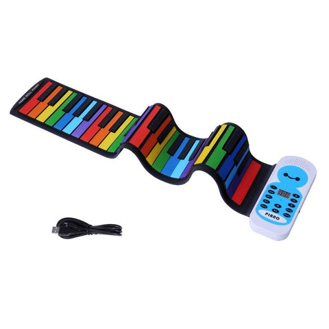 Bosonshop Travel Piano Foldable 49 Keys Flexible Soft Electric Digital Roll Up Piano Keyboard for Kids and Adults