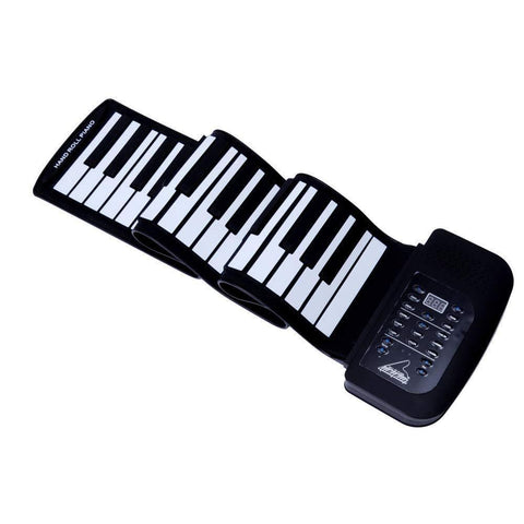 Bosonshop Portable Flexible Roll Up Piano Keyboard 61 Keys USB Midi Electronic Piano Keyboard for Beginner Children Practice Musical Instruments