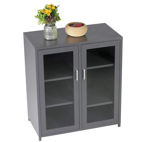 Storage Sideboard Cabinet Sturdy and Durable Floor Storage Cabinet with 4 Adjustable Shelves