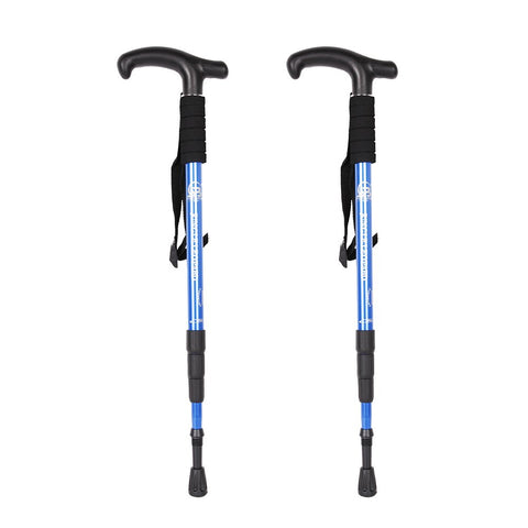 Bosonshop Professional Outdoor Trekking Poles Ultra Light Adjustable Height Anti-Shock Stick for Hiking
