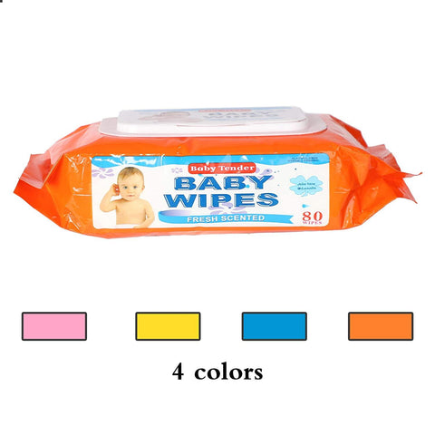 Baby Wipes Baby Wet Tissue Soft Cleaning Wipes Natural Wet Wipes, 6 Packs, 480 Wipes(1pc, 80 wipes)