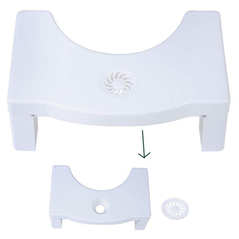 Bosonshop 7 inches Folding Squatting Toilet Stool with Aromatherapy Holes for Bathroom Toilet Potty