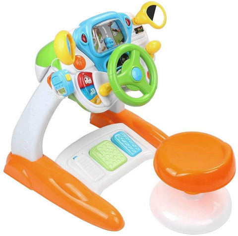 Kids Driving Simulate Ride on Toy Steering Wheel Toy for Toddlers