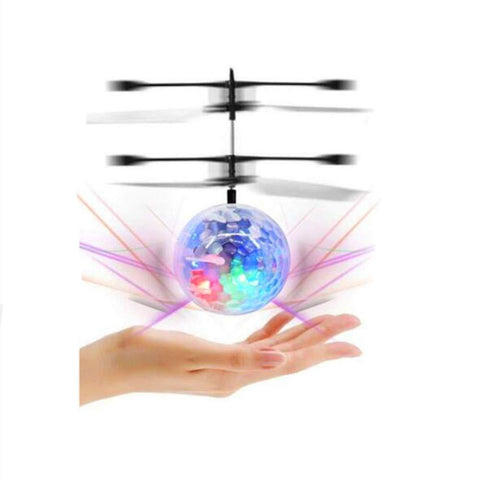 Bosonshop Flying Ball Infrared Induction Flying Toy for Kids Adults Built-in LED Light