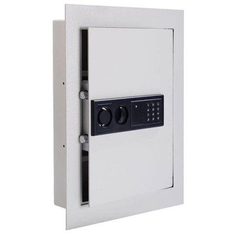 Digital Flat Recessed Wall Safe Security Cash key Lock Box