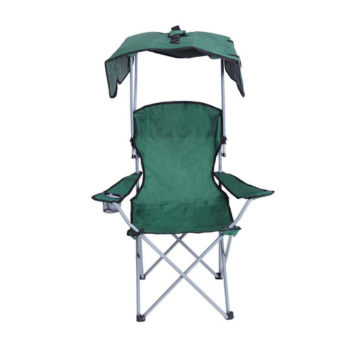 "Bosonshop Portable Camping Chairs with Shade Canopy Original Green 30""Lx17""Wx50""H"