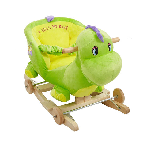 Bosonshop Baby Kids Toy Plush Rocking Horse Rocking Green Dinasour