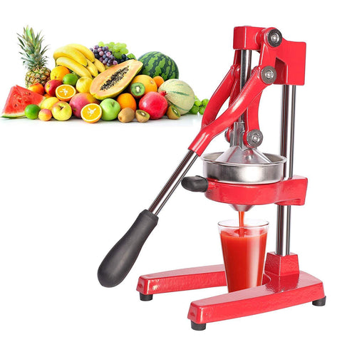 Citrus Pomegranate Juicer Labor-saving Manual Fruit Juicer Press Fruit Squeezer with Stable Non-slip Base, Red
