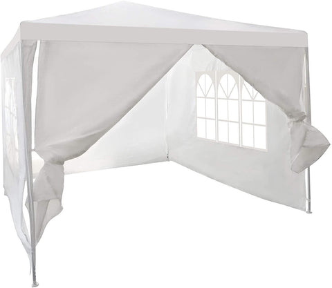 Canopy Tent 10'x10' Outdoor Patio Picnic BBQ Gazebo Shelter Sunshade Wedding Party Tent with 4 Removable Sidewalls