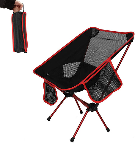 Folding Camping Chair Portable Compact Ultralight Outdoor Backpacking Fishing Chairs with Carry Bag
