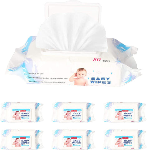 Best Baby Wipes Water Wipes Soft Cleaning Wipes Natural Wet Wipes, 6 Packs, 480 Wipes