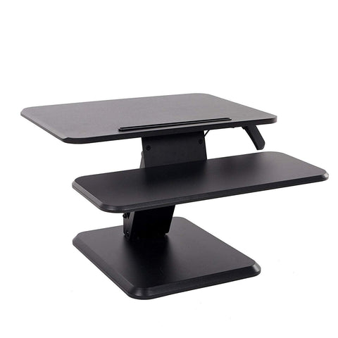 Bosonshop Height Adjustable Standing Desk Tabletop Riser Converter Sit to Stand Up Computer Workstation with Keyboard Tray
