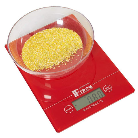 Bosonshop 5KG 11lbs Touch Sensitive Food Scale with Backlit LCD Display and Tare Function (white)
