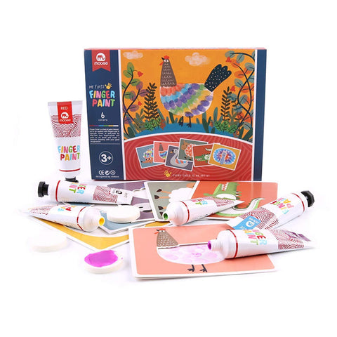 Bosonshop Kids Finger Paint Washable Non-Toxic Fingerpaint Creative Art Toy Toddlers Classroom Projects
