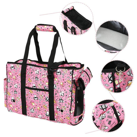 Bosonshop Pet Carrier Shoulder Bag Handbag for Pets, Pink