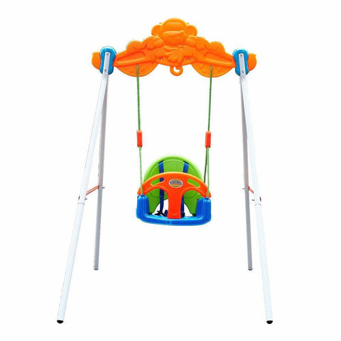 Bosonshop Baby Toddler Indoor/Outdoor Metal Swing Set with Safety Seat