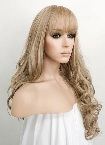 Ash Blonde Wavy Synthetic Wig