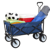 Bosonshop Collapsible Camping Wagon Garden Folding Utility Shopping Cart with Handle