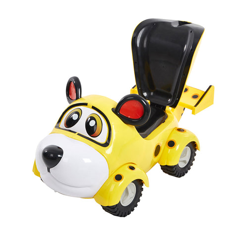 Bosonshop Cute Ride On Car for Toddlers to Enjoy Pushing and Riding Fun, with Backrest, Yellow