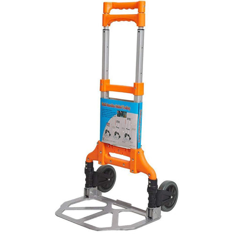 Bosonshop Folding Hand Truck Air Travel Baggage Cart Utility Carts Heavy Duty Dollies 150LB Orange