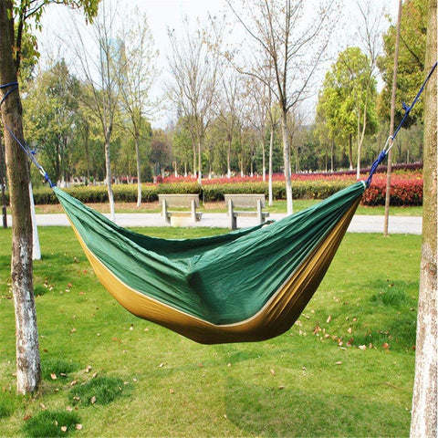 Bosonshop Lightweight Nylon Double Hammock for Backpacking Camping Travel