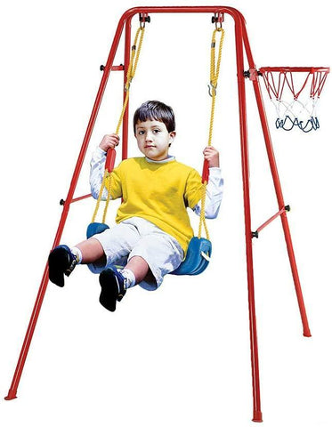 Toddler Swing Playset | 2 in 1 Swing Basketball Combination Swing Toys Set for Kids (Bench)