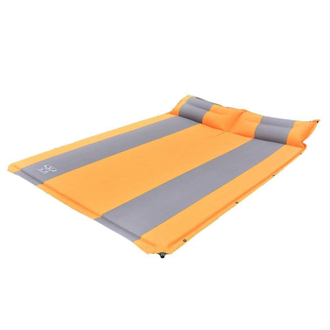 Bosonshop Double Splicing Self Inflating Air Mattress Mat Bed for camping