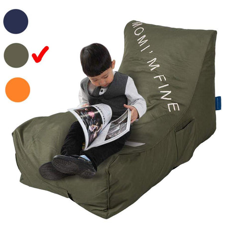 Bosonshop Lazy Lounger Memory Foam Sofa with Dirt-Proof Oxford Fabric&Side Pocket for Kids
