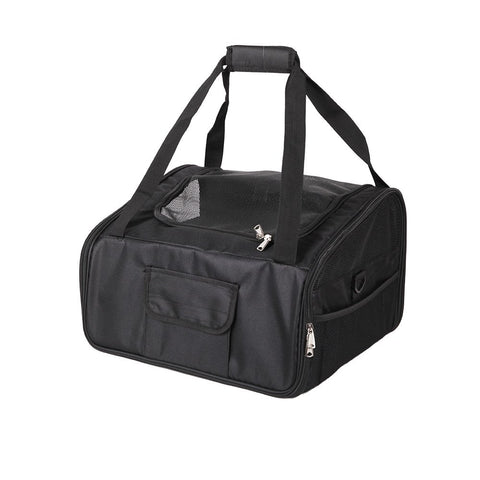Bosonshop Portable Soft-Sided Travel Carrier for Small Dogs And Cats, Black